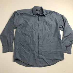 Boss Hugo Boss Dress Shirt Blue Gray Mens 16.5
